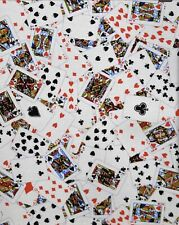 Playing Cards Print Quilting Cotton Fabric Sold By The Quarter Yard Masks