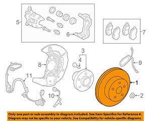 Lexus TOYOTA OEM 16-18 RX450h Front Brake-Disc Rotor 435120E050