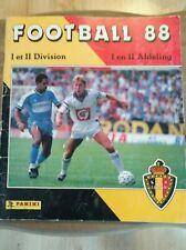 panini album presque complet football belgium 1988