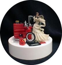 Car AUTO MECHANIC Wedding Cake Topper Bride Groom top Tools FUNNY Racing Tire