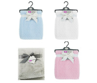 E&A Distribution Baby Waffle Fleece Knitted Cot Pram 75 x 90 cm Blanket Wrap