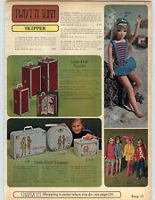 1968 PAPER AD Doll Skipper Twist 'N'Turn Ski Outfit Sweater 'N' Slacks Skating