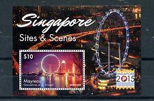 Mayreau Grenadines St Vincent 2015 MNH Singapore 2015 Sites & Scenes 1v S/S