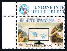 VATICANO 1 FRANCOBOLLO  UNIONE DELLE TELECOMUNICAZIONI 2015 nuovo**