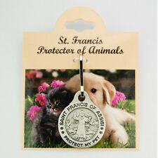 St. Francis Pet Medal Tag Dog Cat Animal Protection Collar Clip