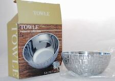 Towle Slivesmith Vannerie Collection Small Bowl Basket Weave Print - 04422801650