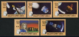 Maldives 1151-1155,MI 1164-68,MNH.Halley's Comet.NASA telescope,Space probe,1986