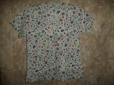 MEDLINE FLOWERS SCRUB TOP SIZE SMALL (2 POCKETS) STYLE 893  NPV