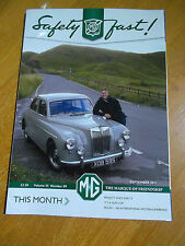 SAFETY FAST MG CAR OWNERS CLUB V55#9 ZB MAGNETTE MGF PROJECT SHED FAIR COP