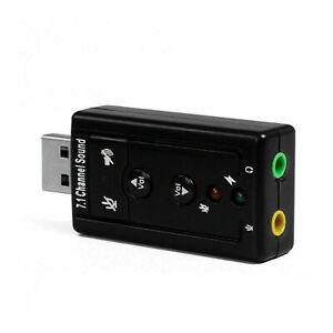 80 Pcs USB 2.0 External 7.1 Channel 3D Virtual Audio Sound Card Mic Adapter