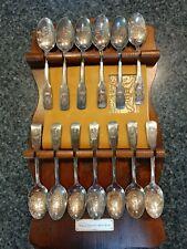 Vintage Silver 13 Colonies Spoon Set, with orig. Booklet.