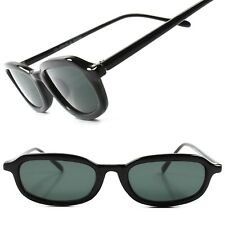 Deadstock True Vintage Indie Hip 70's 80's Mens Black Small Rectangle Sunglasses