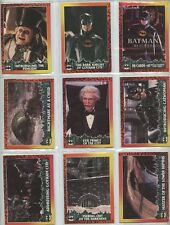 1992 BATMAN RETURNS Trading Card Set, Plastic Pages