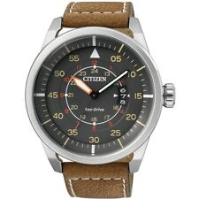 Citizen Sports Men's Watch Eco-Drive AW1360-12H Analogue Solar Leather Braun