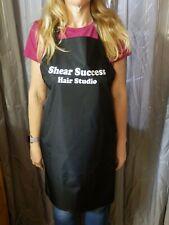 PROFESSIONAL Black Waterproof Hairdressing Apron PERSONALISED Barbershop Hair