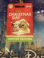 Disney Parks 2019 Christmas Day Mickey Mouse & Pluto LE 5000