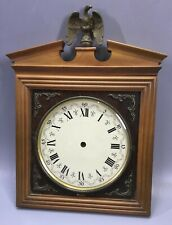 German Wooden Wall Clock Dial With Top Eagle - Germany