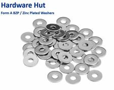 FORM A FLAT WASHERS BZP ZINC DIN 125 FOR METRIC NUTS AND BOLTS - M4 M5 M6 M8