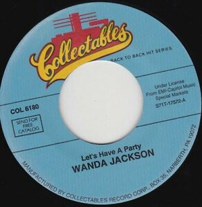 """WANDA JACKSON - Let's Have A Party  7"""" 45"""