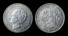 Pays Bas 2 1/2 Gulden 1930 Wilhelmina I - Argent 25 gr (720/oo)