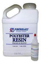 Polyester Resin w/hardener for laminating fiberglass mat, biaxle, cloth (GALLON)