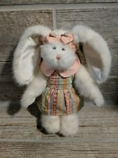 Vintage Boyds Bears Plush Dressed Bunny Rabbit #1364 With Boyds Dress Floral