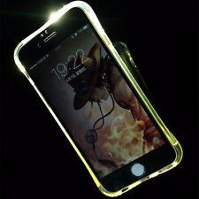 Handy Hülle LED Licht bei Anruf für Handy Samsung Galaxy A3 2016 Transparent Neu