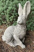 STONE GARDEN LARGE TRADITIONAL HARE DETAILED GARDEN ORNAMENT