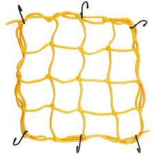 Gold Bungee Cord Cargo Net Motorcycle Helmet Mesh Storage Tie Down Adjustable