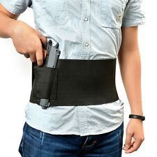 Adjustable Tactical Belly Band Waist Pistol Gun Holster 2 Mag Pouch Bag Holder