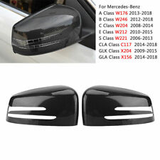 Carbon Fiber Style Mirror Cover Cap For Mercedes Benz W204 C207 W212 W221