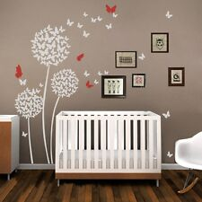 Dandelion Butterfly Wall Decal Inspired Flower Vinyl Child Room Removable Decor