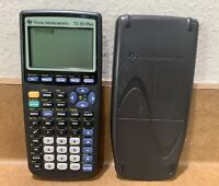 Texas Instruments TI-83 Plus Graphing Calculator Tested Works With Face Cover !!