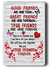 Good Friends Magnet, Best Friend Gift Shabby Chic,FRIDGE MAGNET JUMBO SIZE
