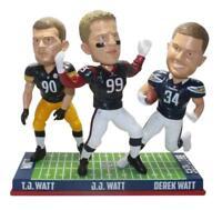 Houston Texans, Steelers, Chargers J.J. T.J. Derek Watt Brothers Bobblehead NFL
