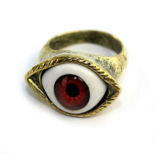 Women New Vintage Retro Punk Rings Gothic Exaggerated Vampire Eye Rings $TG$