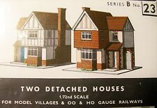SUPERQUICK OO Gauge 2 Detached Houses Card Kit B23