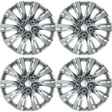 "4 PC Hub Caps ABS SILVER / LACQUER 16"" Inch Rim Wheel Skin Cover Center Cap Set"