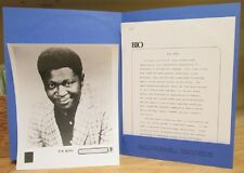 B.B. KING TO KNOW YOU IS TO LOVE YOU LP WHITE LABEL PROMO US ISSUE W/PRESS KIT