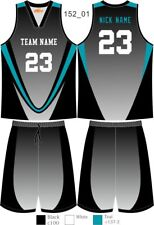 Custom Sublimated Basketball Uniforms Singlets & Shorts Mens Ladies Kids 152
