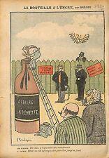 Caricature Politique Affaire Henri Rochette Jaurès Clemenceau 1910 ILLUSTRATION