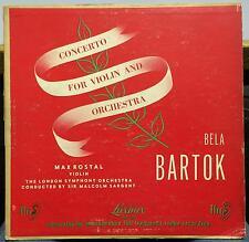 MAX ROSTAL bartok concert for violin LP VG+ LLP 302 Mono UK 1950 FFrr London