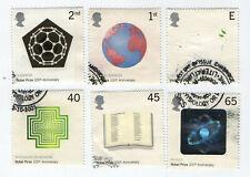 GB Stamps SG2232-2237 FDI, 2001 Centenary of Nobel Prizes.