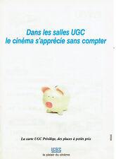 Publicité Advertising 038  1994   carte Privilège cinéma UGC