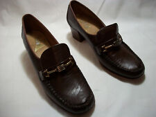 Vintage New Original Viner Brown Heels Pumps 7.5 M