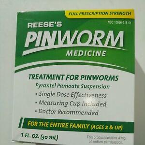 Reese's Pinworm Medicine Suspension   1OZ   Pyrantel Pamoate   UPC: 023513618012