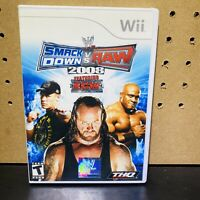 WWE SmackDown vs. Raw 2008 Featuring ECW - Nintendo  Wii COMPLETE FREE S/H