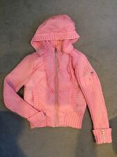 PINK PUFFA JACKET WITH KNITTED SLEEVES AND EDGES BY RED ORANGE - AGE 13y