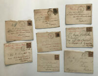 8 1890s 5ct small banknote covers to Europe [y3492]
