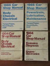 Ford 1984 1985 Car Shop Manuals BODY ELECTRICAL EMISSION POWERTRAIN LUB  ct23